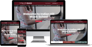 indian hill music school wordpress elementor web design