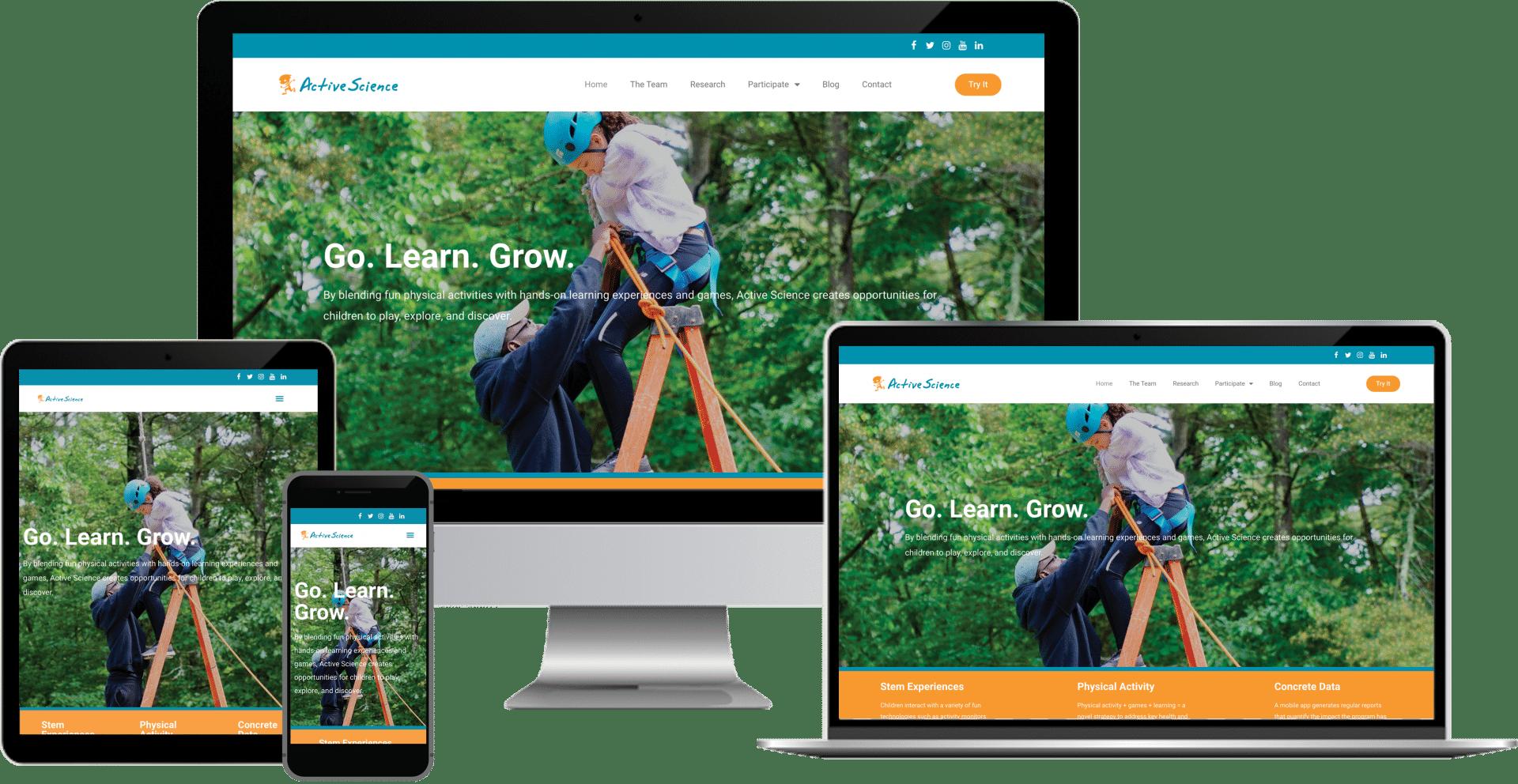 childrens education wordpress elementor web design