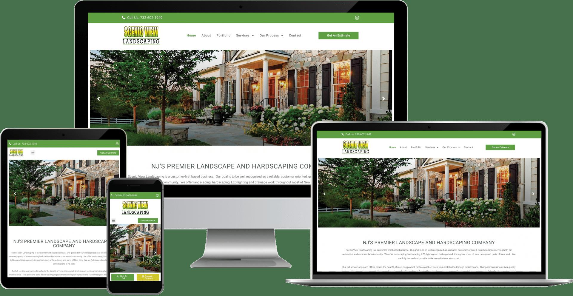 landscape design wordpress elementor web design