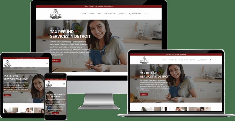 tax refund service wordpress web design