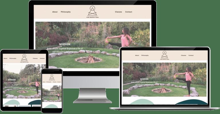 yoga instructor wordpress elementor web design