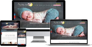 sleep baby sleep wordpress web design