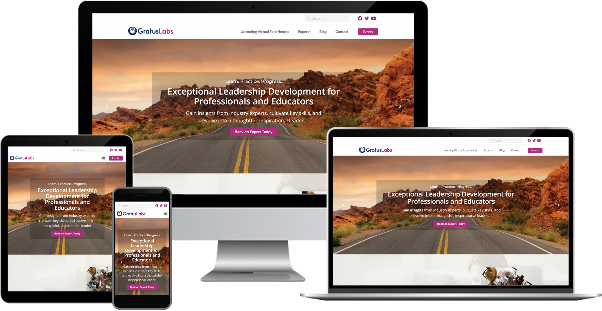 gratus labs online education platform wordpress web design