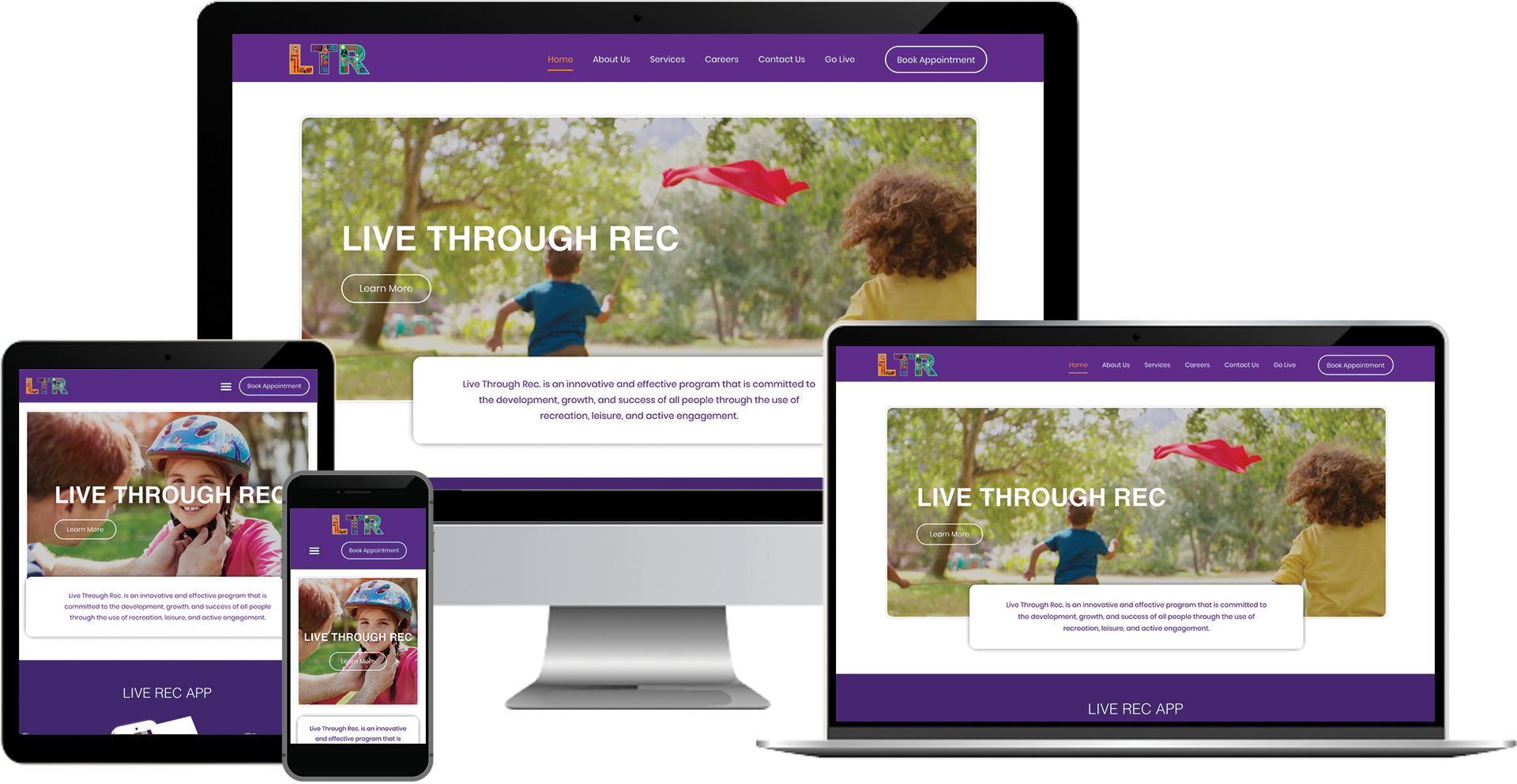 live through rec wordpress web design