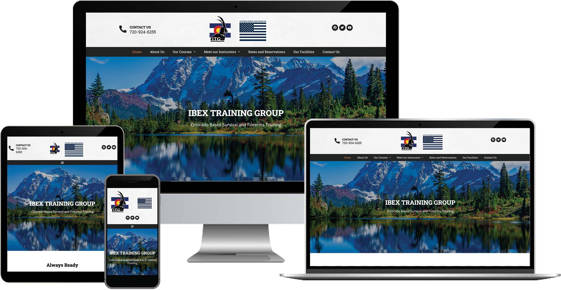survival training company wordpress web design