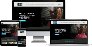 platinum fitness wordpress web design