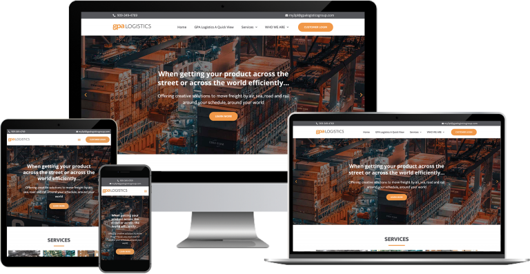 gpa logistics wordpress web design