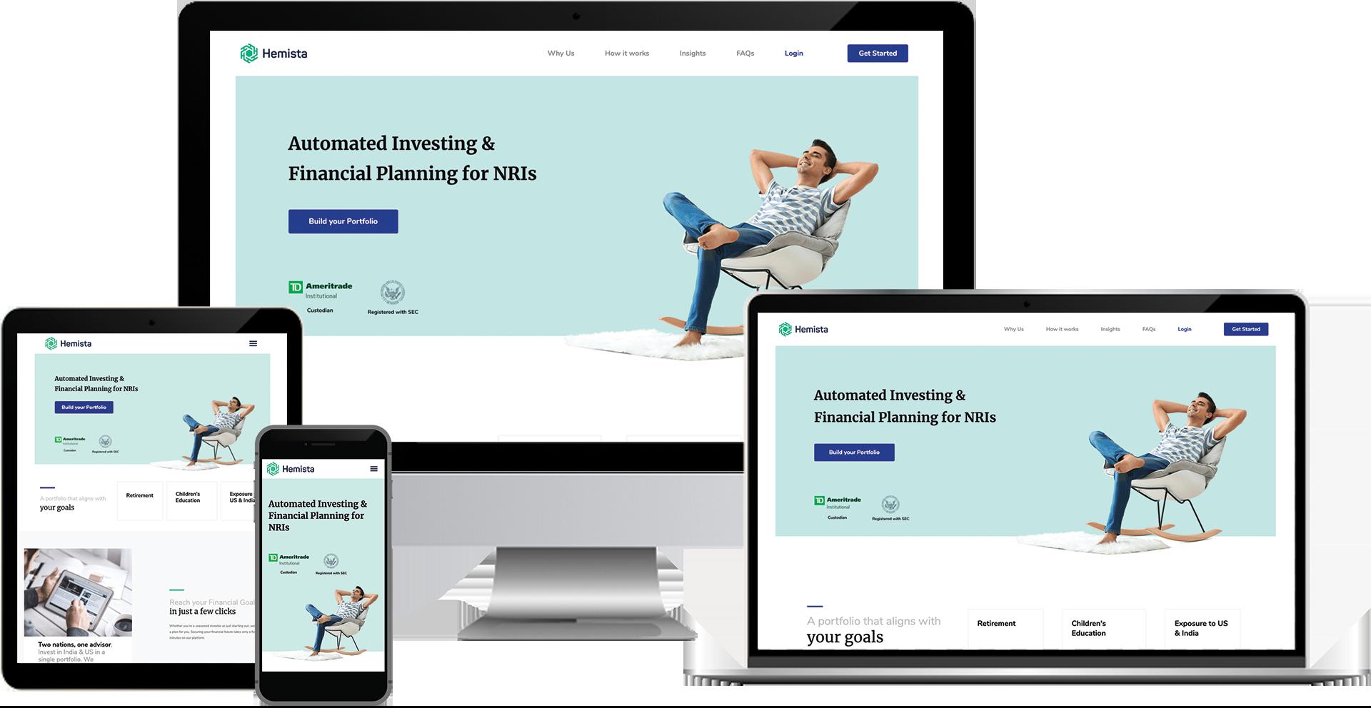 Hemista elementor wordpress web design
