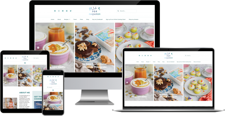 Milk and Cardamom WordPress Web Design