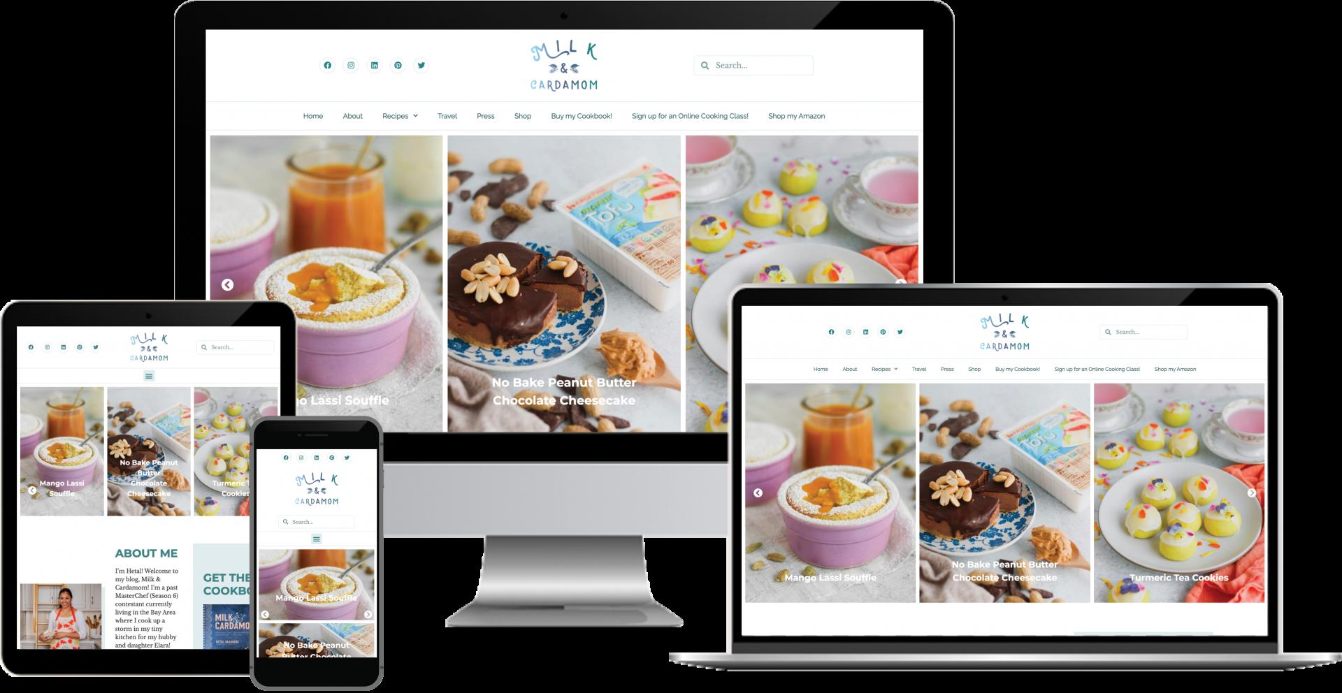 Milk and Cardamom WordPress Web Design