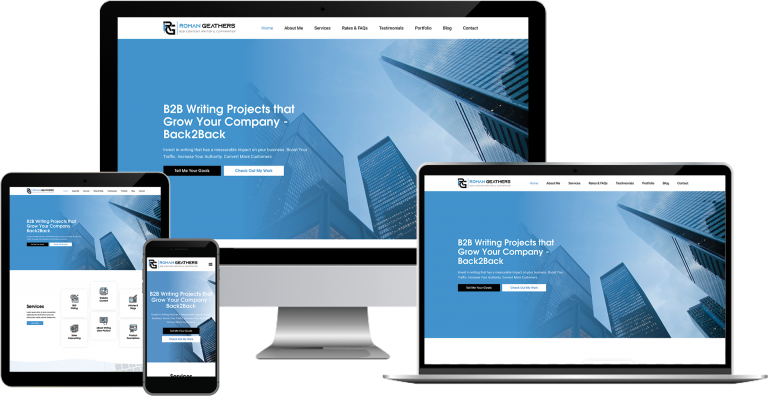 roman geathers copywriter wordpress web design