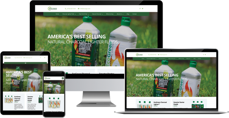 escogo light fluid company elementor wordpress web design
