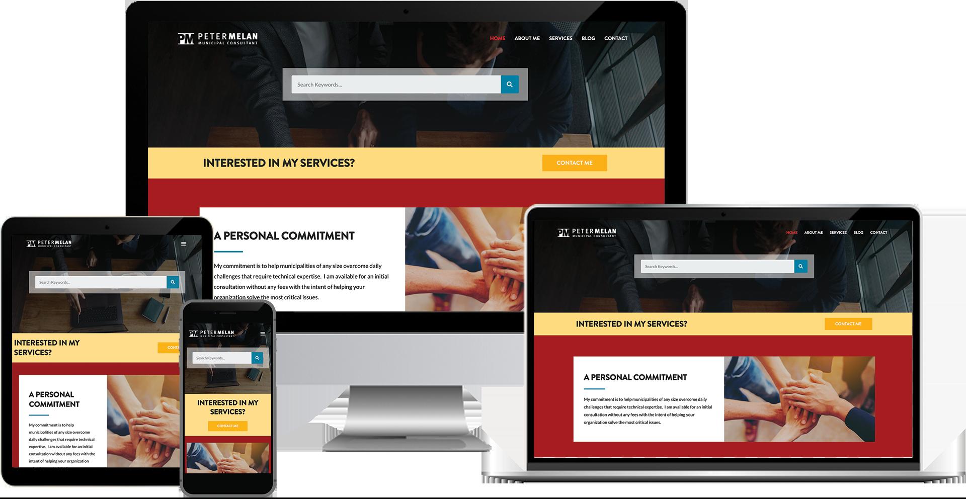 peter melan wordpress elementor web design